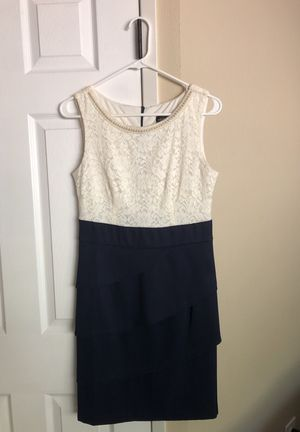 Formal Dress, Navy Ivory with Pearls for Sale in Camas, WA