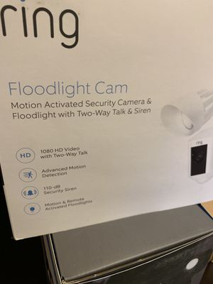 Ring flood cam brand new sealed white $200 for Sale in Ontario, CA