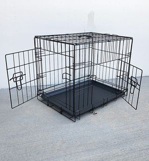 "New $25 Folding 24"" Dog Cage 2-Door Folding Pet Crate Kennel w/ Tray 24""x17""x19"" for Sale in South El Monte, CA"