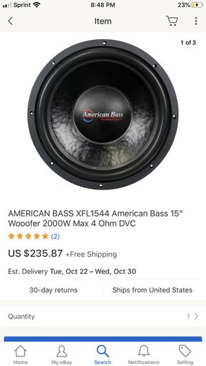 American bass 15s with box for Sale in Lithonia, GA