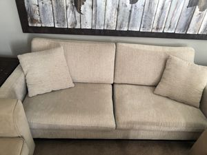 Beige small couch for Sale in Herndon, VA