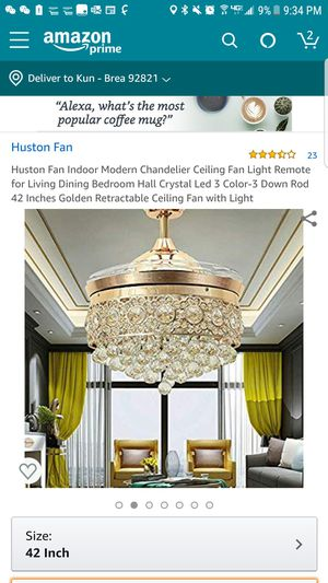 42 inch crystal chandelier & ceiling fan (new in box) for Sale in Fountain Valley, CA