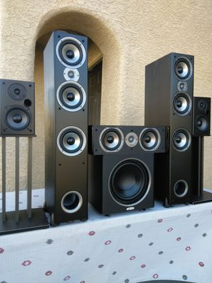 "( Polk Audio ) Models: Monitor 60 Series ii Tower Speakers / T15 Books / CS10 Center / 10"" Polk Sub/ Stands Not Included! for Sale in Las Vegas, NV"