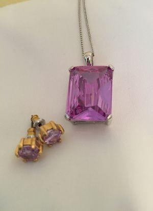 Purple Necklace & Earrings for Sale in Sherman, TX
