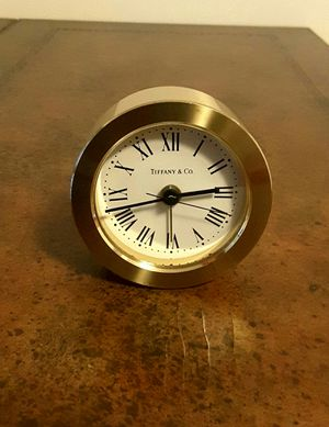 Vintage Tiffany & Co. Bronze Desk Table Alarm Clock Made in Germany. Excellent Condition, Pre-owned. for Sale in Davie, FL