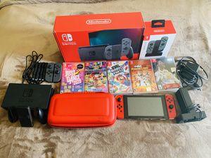 Nintendo Switch Red Joy-Con V2 Mario Kart + Accessories Bundle for Sale in Concord, CA
