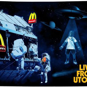 McDonald's x Travis Scott Live From Utopia Flag for Sale in Los Angeles, CA