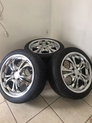 NEW! Boss chrome wheels for sale for Sale in Dinuba, CA