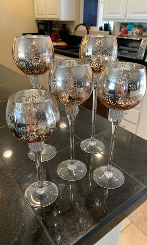 Rose gold votive candle stands. Wedding home decore for Sale in Hesperia, CA