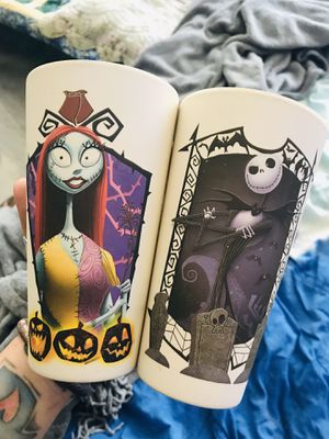 Jack and Sally Nightmare Before Christmas Cups for Sale in Fort Worth, TX