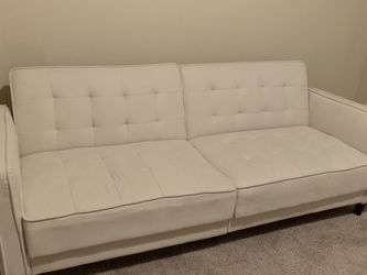 Off White, Couch/futon (full) for Sale in Bothell,  WA