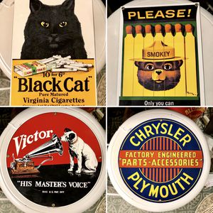 Vintage Advertising Signs, Porcelain and Tin for Sale in Savannah, GA