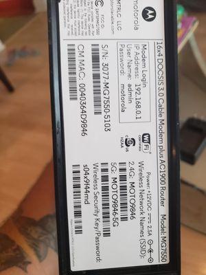 Motorola Cable Modem plus Router for Sale in Riverside, IL
