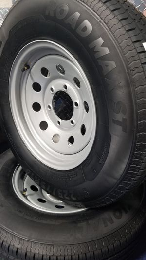 NEW 10 PLY ST225/75R15 TRAILER OR CAMPER TIRES/WHEELS 6 LUG for Sale in Douglasville, GA