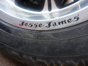 Very rare Jesse James 8 lug Chevy wheel and tire for Sale in Kennedale, TX