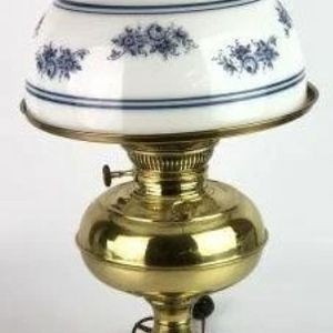 Beautiful Antique Electrified Oil lamp Rayo .. With Glass Shade for Sale in Houston, TX