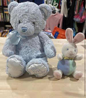 Baby Blue Bear and little bunny stuffed animals for Sale in Aurora, IL