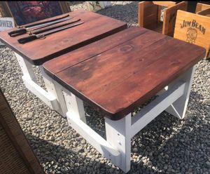 Solid Wood Farmhouse Style End Tables $60 for Sale in Fresno, CA
