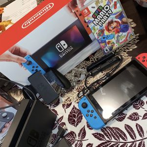 Switch Console Plus Super Mario Party Game for Sale in Peoria, AZ