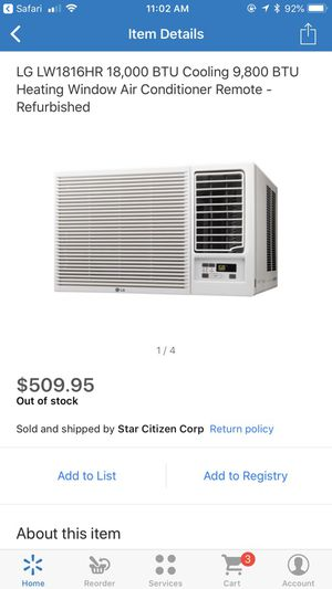 LG window AC/heater for Sale in Sanger, CA