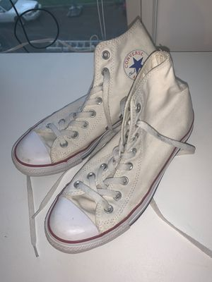 Converse white hi top chuck taylors for Sale in Trenton, NJ