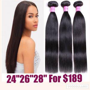 "straight brazilian human hair bundles 22""24""26"" for Sale in Atlanta, GA"