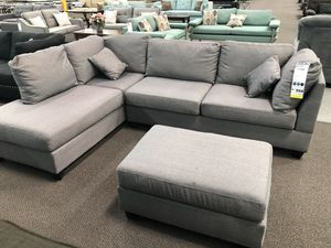 New Couch Sectional. Grey. Free Delivery! for Sale in Los Angeles, CA