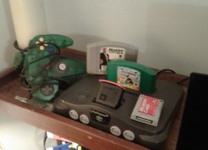 Nintendo 64 w controller, memory card, 2 games, memory expansion pak for Sale in Columbus, OH