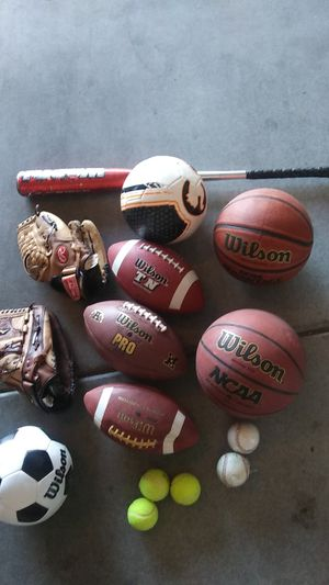 SPORTS LOT/set of soccer, football, baseball, tennis, basketball for Sale in Henderson, NV