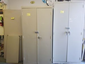 Metal storage cabinets, shelves and plastic tables for Sale in Anaheim, CA
