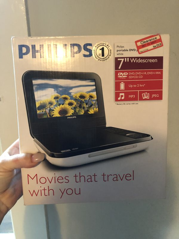 """Phillips portable 7"""" DVD player"""
