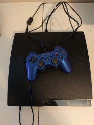 Sony PS3 slim playstation w/ remote + games for Sale in Houston, TX