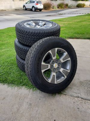 2020 Chevy Colorado wheels and tires good year wrangler All Terrain 255 70 R 17 $999 for Sale in La Mesa, CA