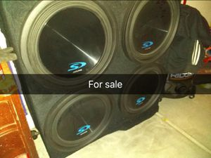 """4 15"""" alpine S with 2500 hifonics amp for Sale in Fresno, CA"""