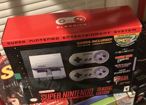 Super Nintendo SNES MINI VINTAGE WITH 30 games new unopened yours for 200.00 for Sale in Medford, MA