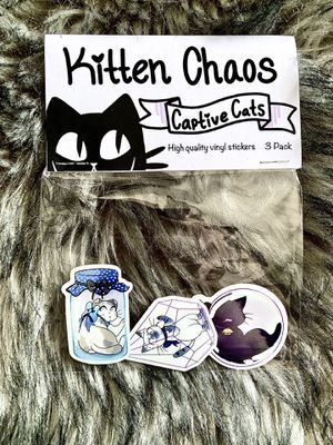 Cat sticker pack (captive cats) for Sale in Huntington Beach, CA