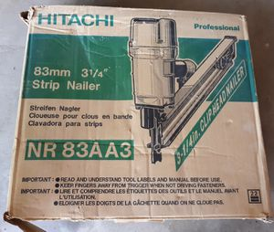 "Hitachi Pro Nail Gun NR83AA3 3 14"" for Sale in Calverton, MD"
