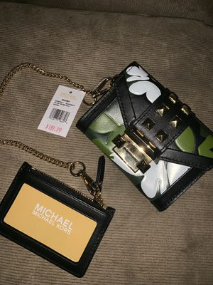 Michael Kors Mini Purse With Credit Card Holder Authentic Brand New With Tags 🏷 for Sale in East Los Angeles, CA