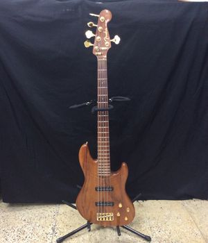 Fender Jazz Bass 5 String Bass Guitar w/ Brown Leather Case and Accssories for Sale in Laurel, MD