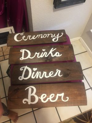 Wedding and party signs for Sale in Lodi, CA