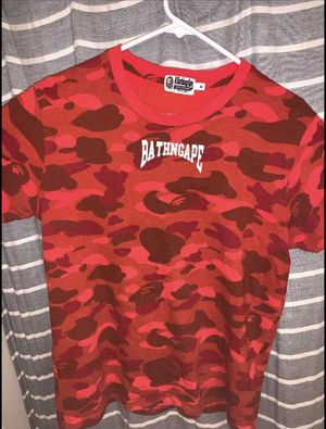 Bape shirt red camo for Sale in Colton, CA