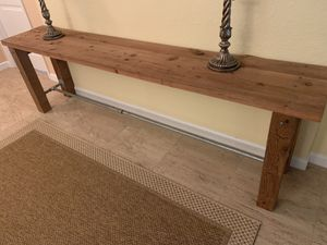 Wood console table - 8 ft long! for Sale in West Palm Beach, FL