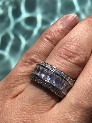 Sterling Silver 925 Engagement/Wedding Ring sz 5-10 for Sale in San Francisco, CA