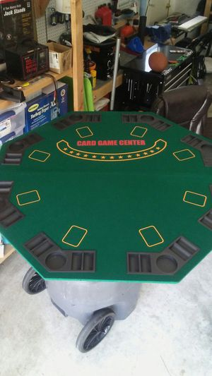 Folding poker surface for Sale in Lakeland, FL