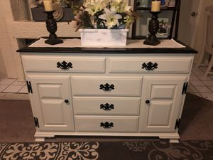 Media center console table tv stand buffet entertainment credenza farmhouse country rustic wood for Sale in Glendale, AZ