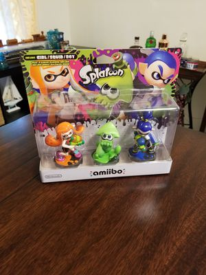 Splatoon 3-Pack with Squid Amiibo Nintendo Switch Wii U for Sale in Cocoa, FL