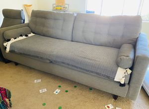 Grey large couch(4seater) for Sale in Yucca Valley, CA