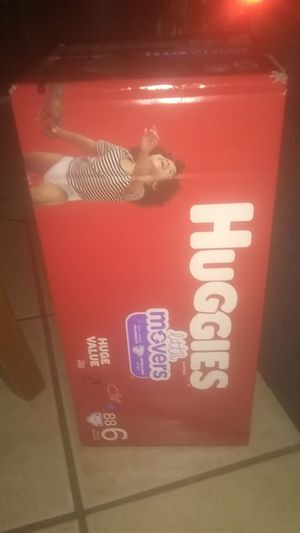 Huggies Little movers size 6 asking $30 for Sale in Phoenix, AZ