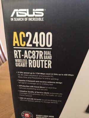 ASUS ROUTER. MODEL # AC2400 for Sale in Myrtle Beach, SC