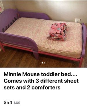 Minnie Mouse Toddler Bed for Sale in Maple Heights, OH